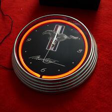 Mustang Neon Wall Clock NEONETICS