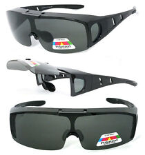 Flip Up POLARIZED Cover Put Fit over Sunglasses wear Rx glass Fit Driving UV400