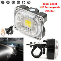 USB Rechargeable LED Bike Bicycle Headlight Lamp Front Light 3 Mode Super Bright