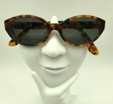 Vintage Calvin Klein CK4007 20 Brown Tortoise Oval Sunglasses FRAMES ONLY