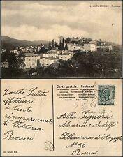 S.Agata mugello, Firenze, panorama, viaggiata 1908, annullo di valore