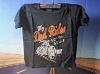 T-Shirt J/&P Cycles Rose Next Level Skull Ladies  Medium Bike Motorcycle Red  P4