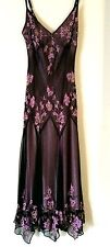Women Sz 6 Designer Cocktail Gown Gatsby Roaring 20s Beaded Brown Cocoa