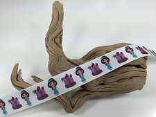 "BTY 1"" Disney Princess Jasmine Cartoon Grosgrain Ribbon Hair Bows Lanyards Lisa"