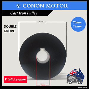Double groove Pulley 70mm shaft size 24mm electric motor pulley V type A section