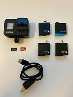 GoPro Hero 8 Black + 4 batteries + 2 micro SD cards + GoPro charging cable