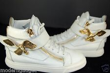 GORGEOUS !!!  Giuseppe Zanotti GOLD BIRD Leather High Top  WOMEN EU 38 US 8