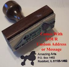 Poodle Rubber Stamp With Your Custom Address/Message