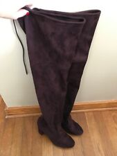 Unbranded Womens Thigh High Boots Burgundy Size 9 New With Defect