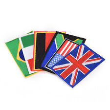 Nation Flag Emblem Embroidered Trim Applique National Country Sew/Iron on Patch~