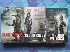 lotto 3 libri in INGLESE Christine Cody - serie Bloodlands -completa
