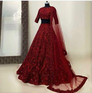 Indian Pakistani Wedding Wear Lengha Bollywood Party Bridal Ethnic Lehenga Choli