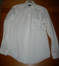 Arrow Button Long Sleeve Shirt Size M or 15 1/2  White w/ Subtle Linear Weaving