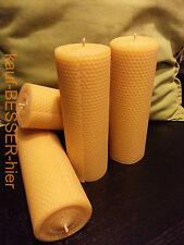 2 XL Bienenwachskerzen 200x68 100% Bienenwachs Advents Kerzen Stumpen