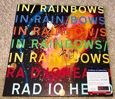 THOM YORKE SIGNED IN RAINBOWS VINYL ALBUM RADIOHEAD BAND BRITISH ROCK PSA/DNA