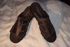 NEW Men's Size 13 Highland Creek Brown Leather Tucson Slip On Slides Sandals