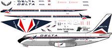 Delta Boeing 737-200 decals for Airfix 1/144 kit