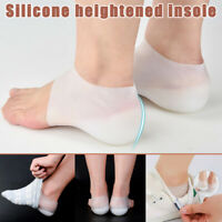 1 Pair Invisible Height Heel Pad Sock Liners Increase Insole Pain Relieve Care