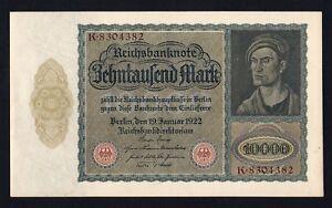 Germania / Germany - 10.000 mark Reichsbanknote 1922 qSUP / AU-  B-01