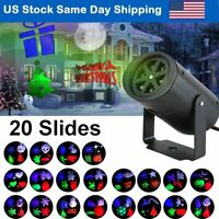 Projection Lights Auto Rotating Spotlight with 20 Slides Christmas Partys Decor