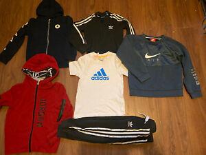 Boys Adidas Originals Boys Black Tracksuit Age 5-6 Good Condition Converse Hoody