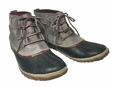 Sorel Womens Out N About Waterproof Ankle Duck Chelsea Boot Gray Sz 9.5