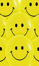 15 × SMILEY HAPPY  FACE EMOJI 8 inch BALLOONS ALL OCCASIONS PARTIES BIRTHDAY