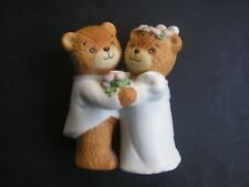 Enesco Figurine Ceramic Collectiable Bears Lucy & Me Bride And Groom Engaged