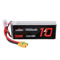 URUAV 14.8V 10000mAh 30/60C 4S Lipo Battery XT90 Plug for FPV RC Quadcopter