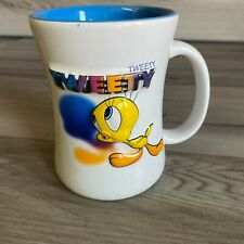 TWEETY LOONEY TUNES SIXFLAGS WARNER BROS VINTAGE MUG CUP WHITE BLUE