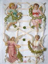Glanzbilder ef 7371 Engel Putten Kinder Mädchen Blumen wunderschöne Oblaten