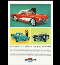 1956 Corvette PHOTO Art Ad Advertisement Pic Sign Chevrolet Chevy Sports Car V8