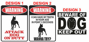 DOG WARNING Safety Signs, Stickers / Corflute / Metal. OHS work Signage SECURITY