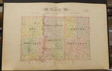 Missouri Andrew County Map Platte Township 1909 Dbl side Dbl Pg   J6#36