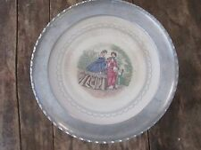 Vtg Farberware Porcelain Plate Aluminum Framed Brooklyn Ny Victorian Ladies