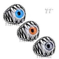 High Quality TT 316L Stainless Steel Dragon Claw Eye Punk Ring (RZ73)
