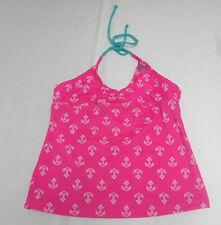 Billabong Girls sz 10 Tankini Top Anchor Pink Swimwear