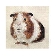 Tri-colour GUINEA PIG, CAVY ~ Full counted cross stitch kit + all materials