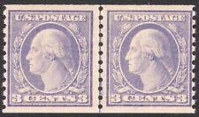 #493 F-VF LH OG TYPE I 3¢ Washington COIL LINE PAIR GEM (REM #493 lp-3)