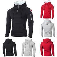 Mens Sweatshirt Fur Fleece Hooded Coat Winter Warm Hoodie Jacket Overcoat Zipper