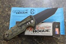 """NEW Hogue 34208 EX-02 Extreme Series 3.75"""" Tanto Blade Flipper Knife Green G10"""