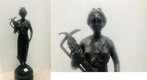 Bronzefigur, Römerin, ca. 50cm hoch, 3817g