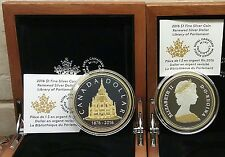 1876-2016 Renewed Pure Silver Dollar 2OZ Coin: Library Parliament, Gold-Plated.