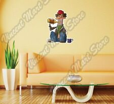 "Alcoholism Drinking Alcohol Alcoholic Wall Sticker Room Interior Decor 18""X25"""