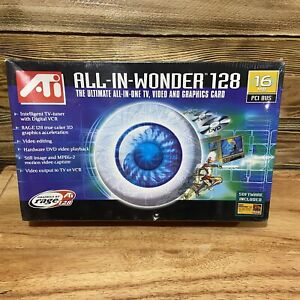 ATI All In Wonder 128 16mb TV Video And Graphics Card 100-708001 NEW SEALED