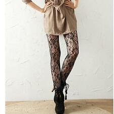 Women Girl Black Rose Pantyhose Stocking Hollow Out Elastic Hosiery Tights Socks