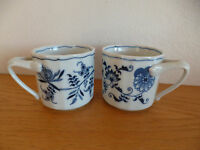 Blue Danube   2 Coffee / Tea Mugs    Blue Onion Design