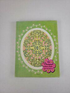 Vintage Green W/ Pink Flowers Warren Built Rite The Designer Picture Puzzle 3540