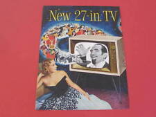 50s Television 27 inch TV & Weyerhaeuser Timber Company Original 1950s Adverts