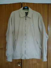 Mens Izod Sportswear/Golfing Jacket Cream colour M size Used in good condition